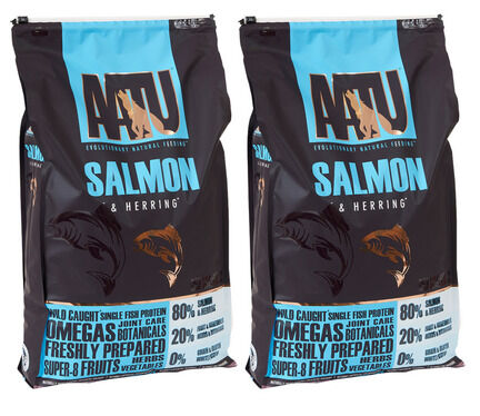 2 x 10kg AATU 80/20 Salmon & Herring Dry Dog Food Multibuy