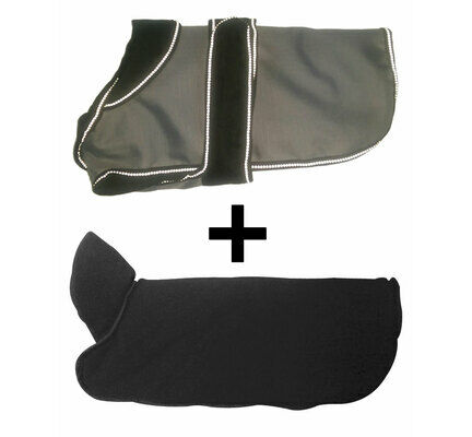 Danish Design 2-In-1 Grey Waterproof Four Seasons Performance Dog Coat