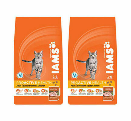2 x 15kg Iams Chicken Adult Cat Food