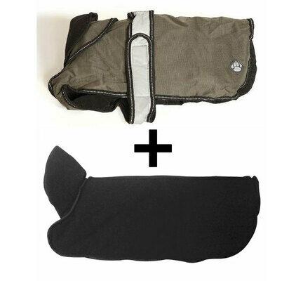 Danish Design 2 In 1 Khaki Four Seasons Waterproof Performance Dog Coat