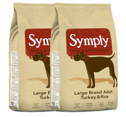2 x 12kg Symply Large Breed Adult Turkey & Rice Dry Dog Food