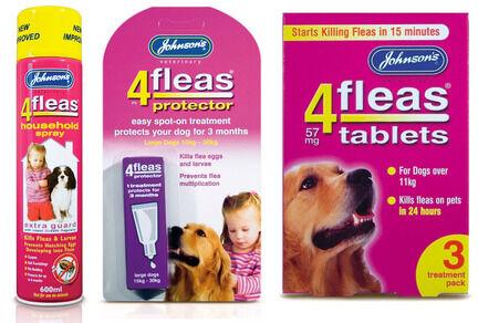 Johnson's 4Fleas Large Dog (15 - 30kg) Flea Treatment Bundle