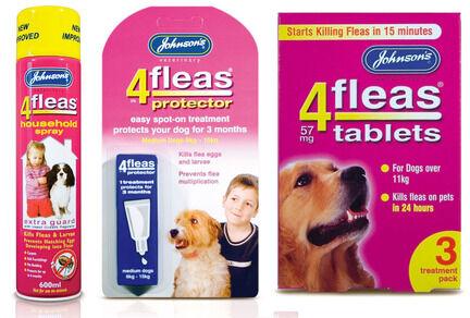 Johnson's 4Fleas Medium Dog (6 - 15kg) Flea Treatment Bundle