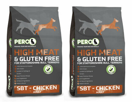 2 x 12kg Pero High Meat SBT Chicken Adult Dog Food