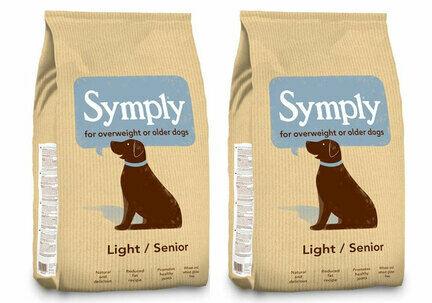 2 x 12kg Symply Light/Senior Lamb & Rice Dry Dog Food Multibuy