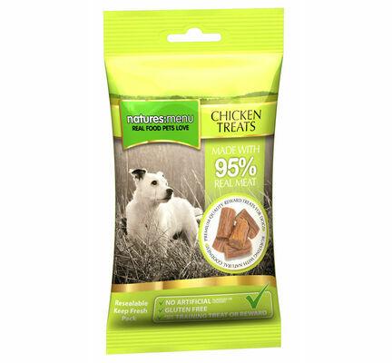 12 x 60g Natures Menu Gluten-Free Chicken Dog Treat Multibuy