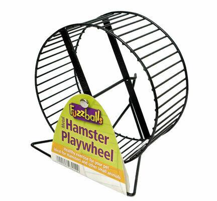 Pennine Fuzzballs Metal Hamster Play Wheel & Stand